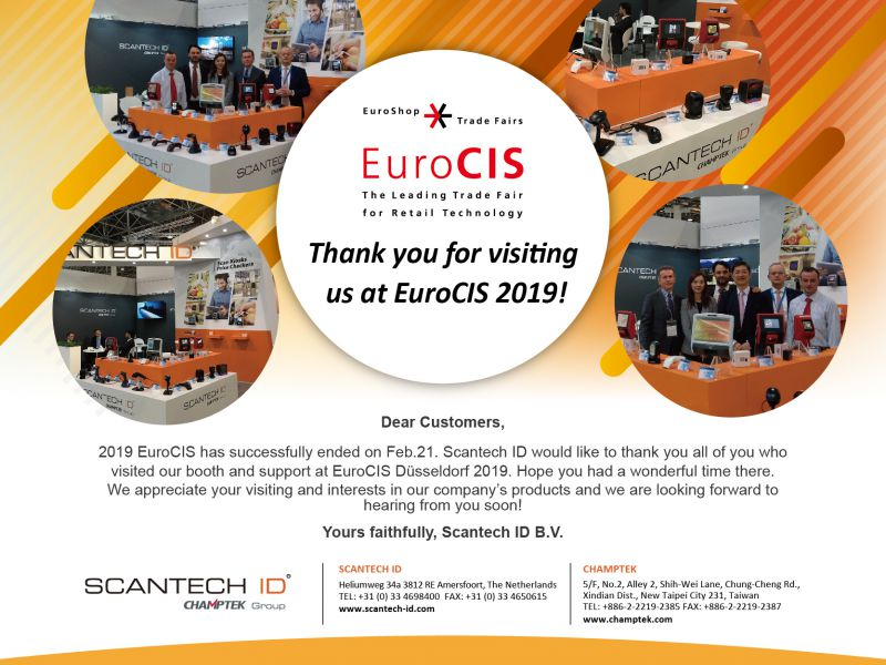 2018 EuroCIS-Feb.19-21 Thank You For Participating!